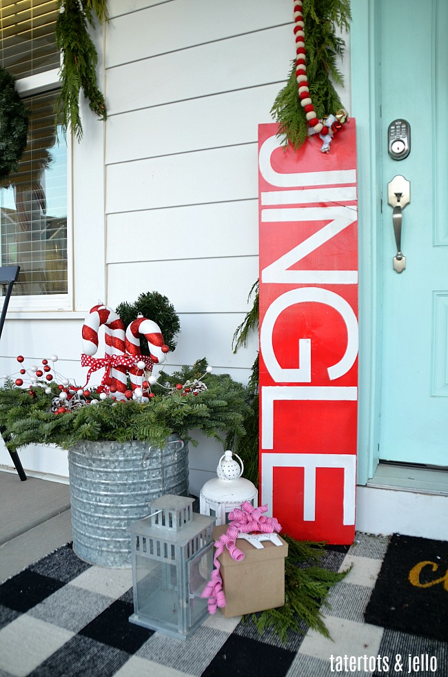 Holiday Home Tour Candy Cane Porch