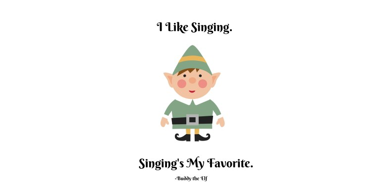 elf boy singing printable mugs