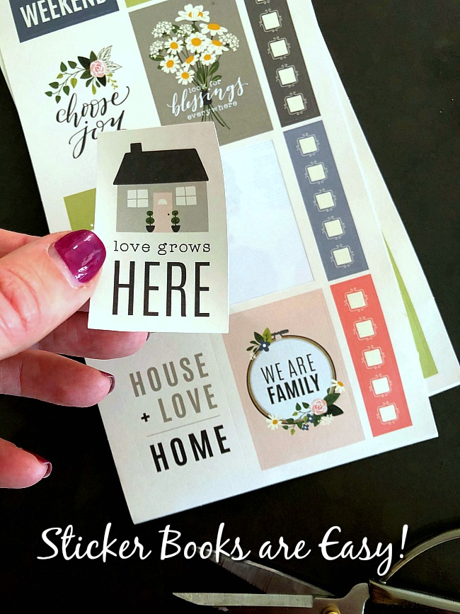 sticker books are an easy way to create cards and paper crafts easily!