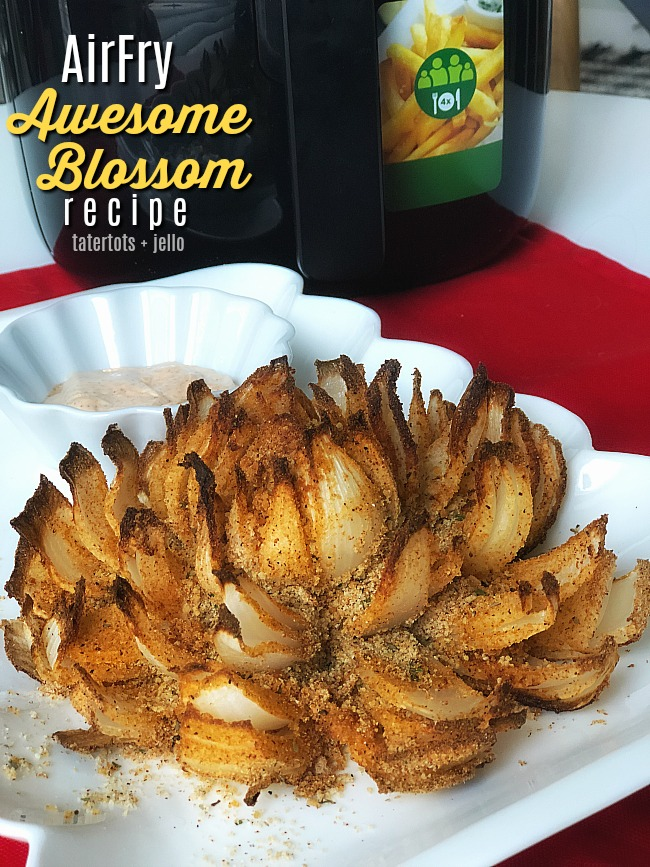 AirFry Awesome Blossom - make this ultimate appetizer in your appetizer for a delicious game day treat that beats a crowd and has almost 75% less calories than the deep fried version!