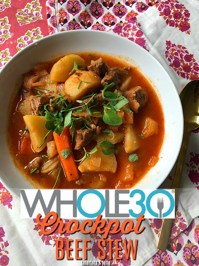 Whole 30 Beef Instant Pot Veggie Soup - its SO good and hard to believe that is Whole 30 too!