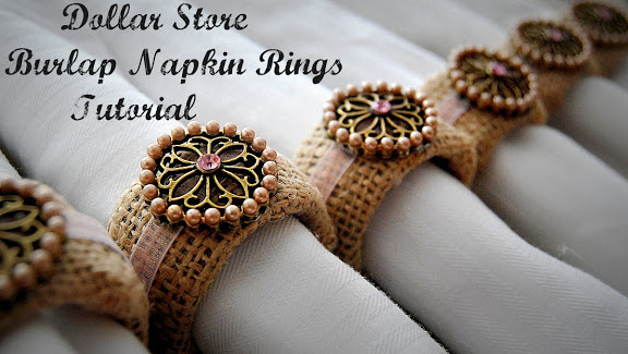 Dollar Store Burlap Napkin Rings