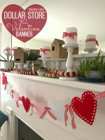 $2 Scallop Felt Heart Garland – Valentine's Day Project