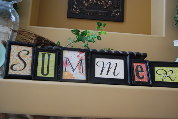 Summer dollar store frame project