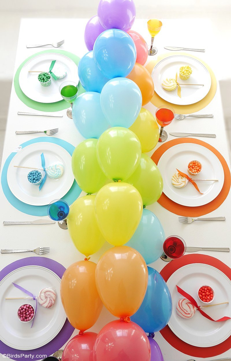 colorful spring balloon garland 17 Bright and