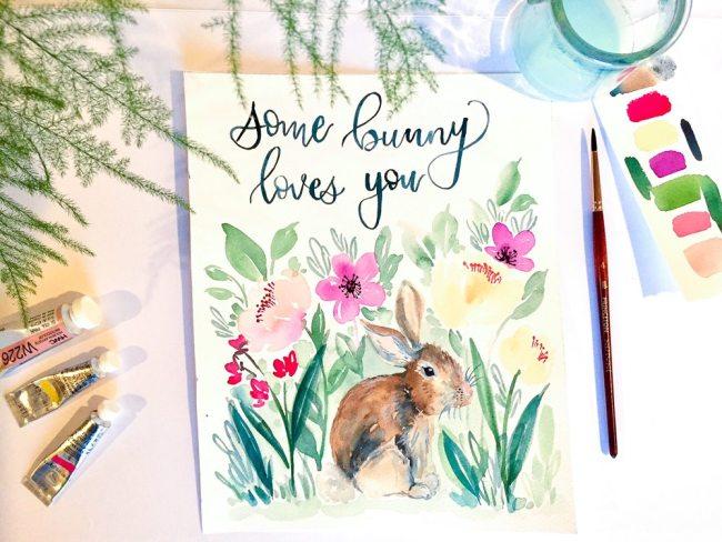 spring bunny printable