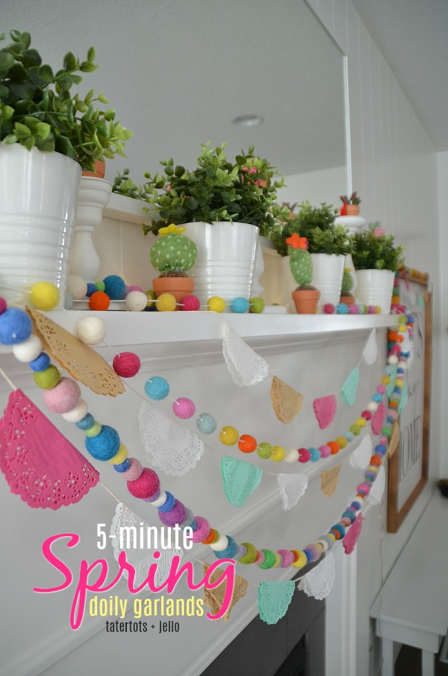 5 Minute Spring Doily Garlands - brighten your home!