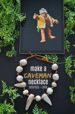 Kids Craft – Make a Clay Caveman Necklace for Creative Play