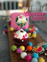 DIY Medallion Cupcake Toppers with My Patio Party Paper Line!