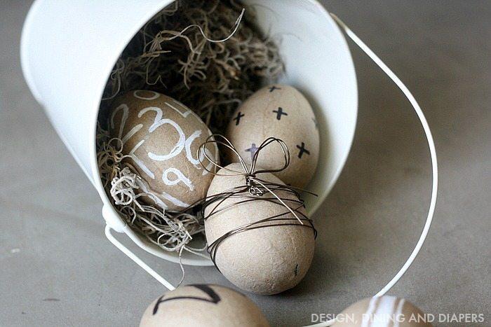 farmhouse neutral easter eggs