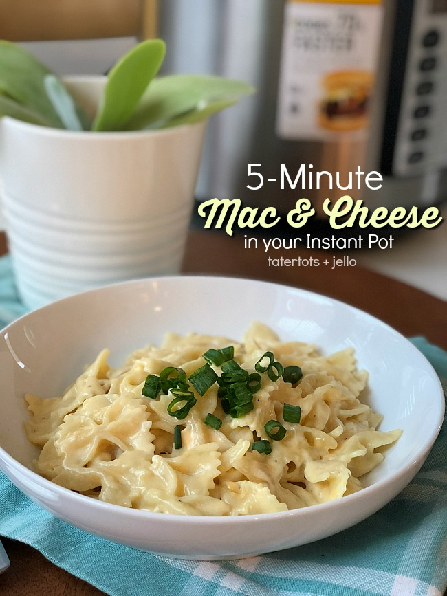5-minute mac and cheese in your Instant Pot - cut out all of those artificial ingredients and make this super easy and delicious mac and cheese in your pressure cooker.