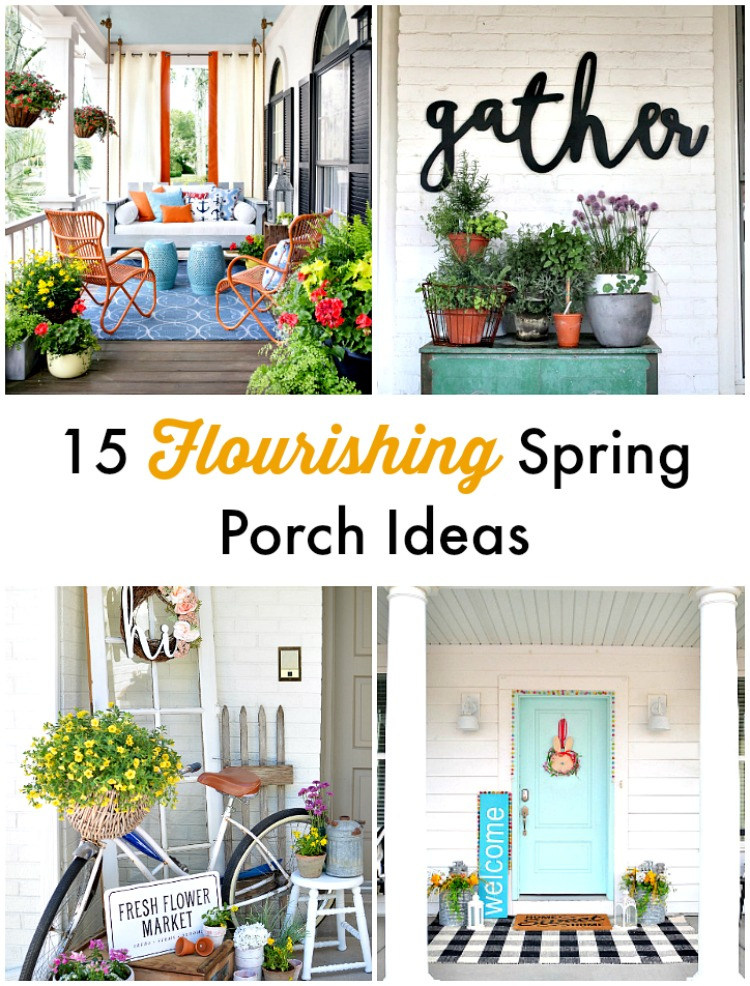 15 Flourishing Spring Porch Ideas. Ways to bring spring and color to your porch or door,