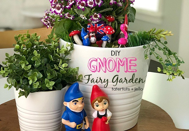 Kids Craft – Make a DIY Gnome Fairy Garden!