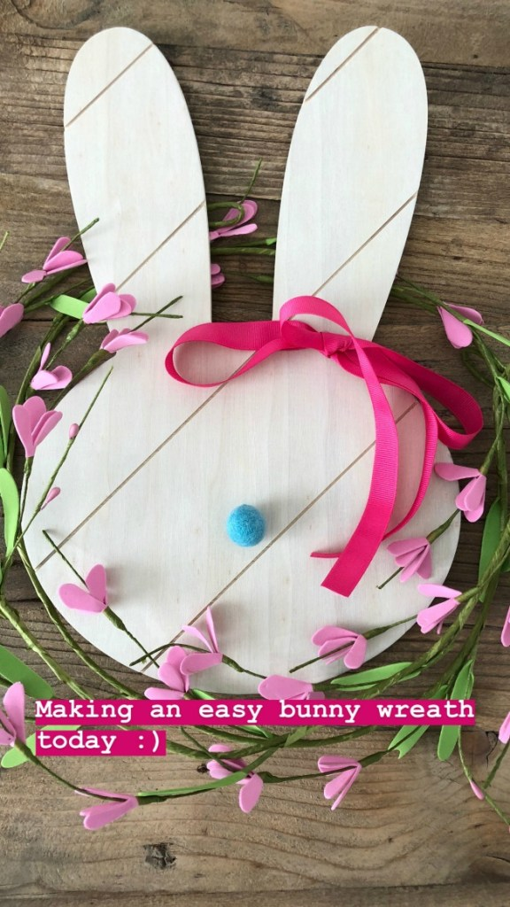 5-Minute Spring Bunny Wreath - an easy and inexpensive way to bring Spring into your home!