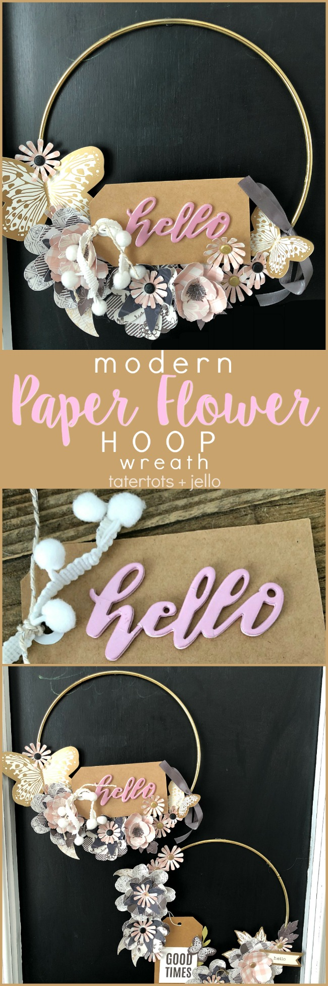 Modern Paper Flower Wreath - a beautiful gift idea or a striking wall hanging for your home!