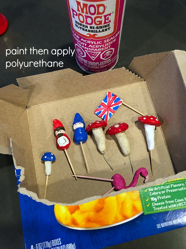 Paint then poly fairy garden instructions