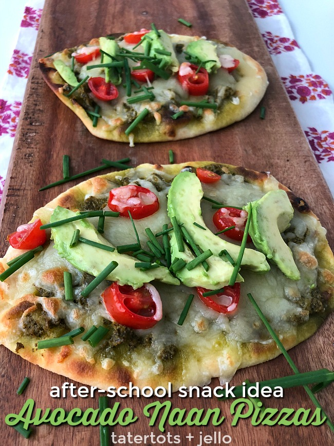 After School Snack Idea Avocado Naan Pizzas that kids love!