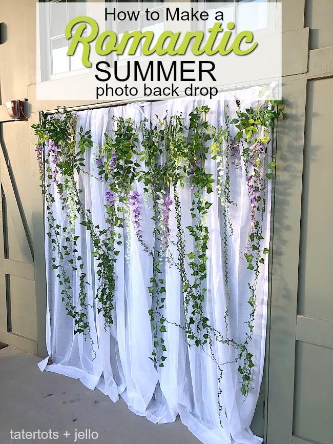 How to Make a Romantic Summer Photo Backdrop (Photo Booth)