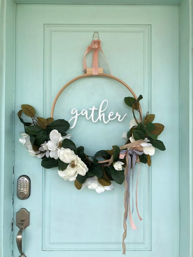 DIY Magnolia Garden Wreath Tutorial