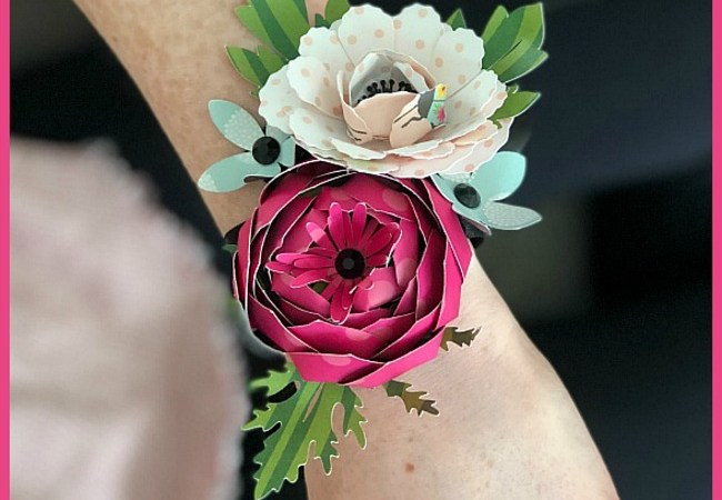 Make a Paper Flower Corsage – perfect for Graduation, PROM, Mother's Day or Birthdays!