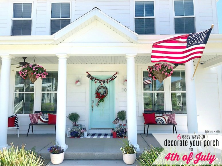 6 ways to decorate your front door for the fourth of july