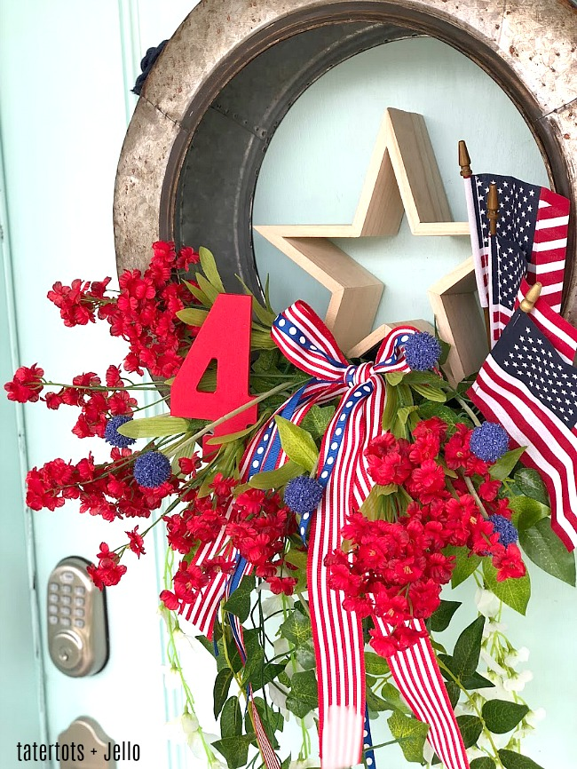 Make this festive Fourth of July farmhouse wreath