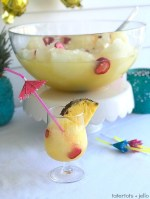 Pineapple Lime Luau Slushy Punch!