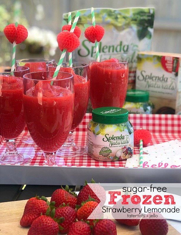 4 Ways I'm Getting Healthier This Summer + Sugar-free Frozen Strawberry Lemonade Recipe!