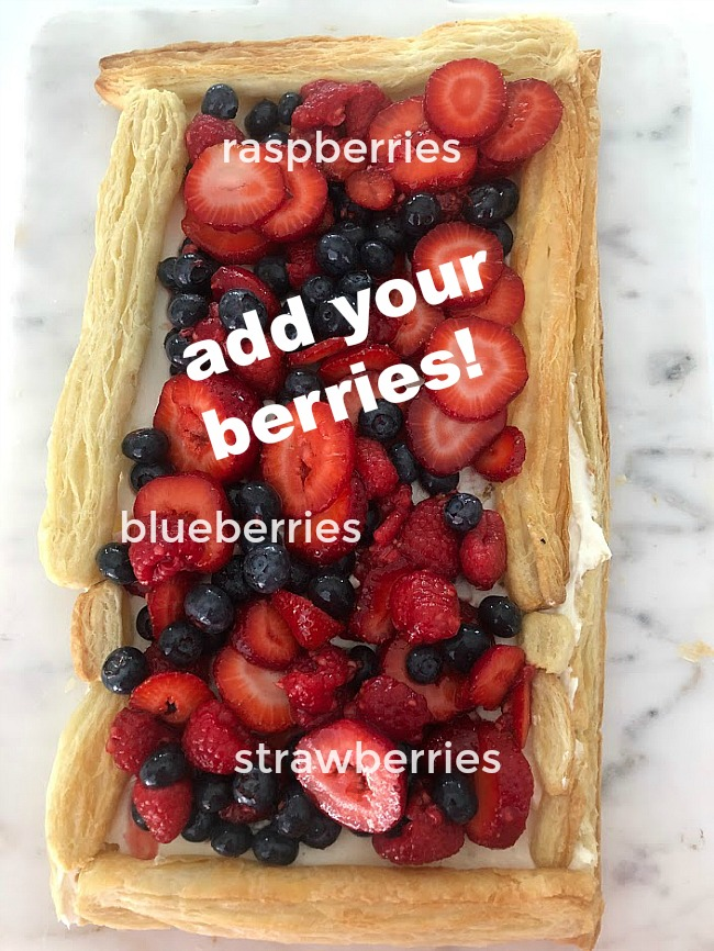 The easiest 15-minute cream cheese berry tart Looking for an easy dessert to whip together this Summer? Make a Berry Tart with puff pastry, fresh berries and a light and fluffy cheesecake filling. It's light, fresh and oh so good!