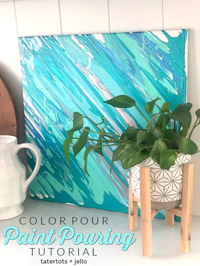 color pour paint pouring tutorial create one of a kind art
