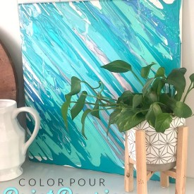 Create Beautiful Artwork with Color Pour – paint pouring tutorial!