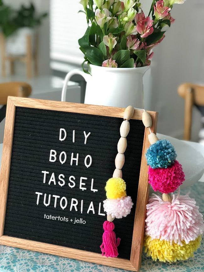 How to Make Beaded BOHO Pom Pom Tassels!