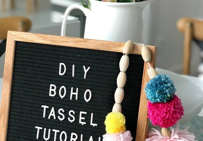 How to Make Beaded BOHO Pom Pom Tassels!
