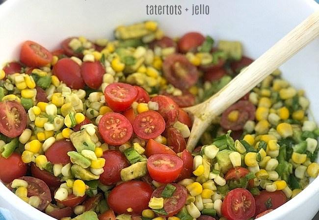 Tangy Corn, Avocado and Tomato Salad