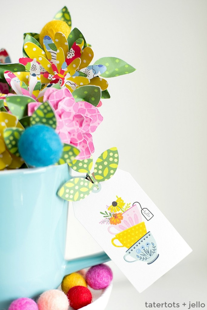 Easy Gift Ideas with Paper Gift Tags! Three simple gift ideas with paper tags. SO easy to make. Brighten up someone's day with a simple gift!!