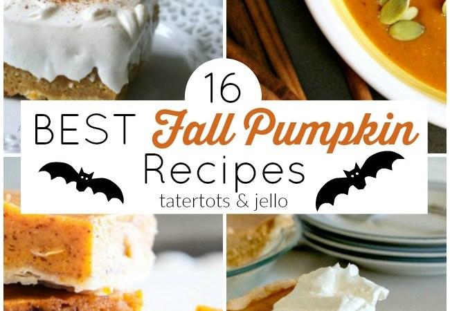 16 of The BEST Sweet + Savory Fall Pumpkin Recipes!