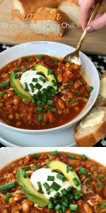 Pumpkin White Bean Turkey Chili in the Instant Pot