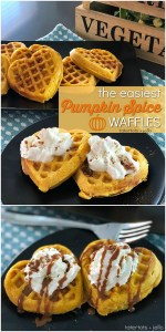 The Easiest Pumpkin Spice Waffles – only a few ingredients and minutes to make!