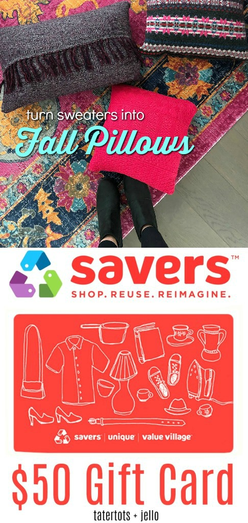 BE SURE TO ENTER THE GIVEAWAY FOR A $50 GIFT CARD TO YOUR SAVERS, VALUE VILLAGE OR UNIQUE STORE. To enter – just leave a comment on this post with what YOU would buy if you win this Savers gift card! **And for extra entries – share this giveaway. Comment separately to let me know how you shared (twitter, Instagram and/or Facebook) Be sure to head over to your local Savers (or Value Village, Unique Store) in your area. Follow along with Savers for all kinds of cute fashion ideas Savers Pinterest Savers Instagram Savers YouTube Have a HAPPY day! xoxo image: https://i0.wp.com/tatertotsandjello.com/wp-content/uploads/2012/07/jen-signature12.png?zoom=0.8999999761581421&resize=122%2C115&ssl=1 Read more at https://tatertotsandjello.com/thrifted-boho-pom-pom-picnic-basket-makeover/#xZX8isRyRJpRLGdA.99