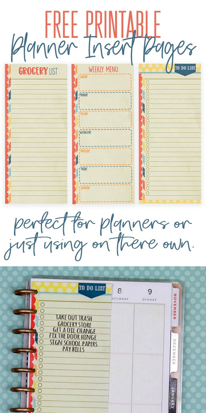 photo relating to Free Printable Planners called Just take Geared up with Absolutely free Slide Printable Planner Add Webpages!
