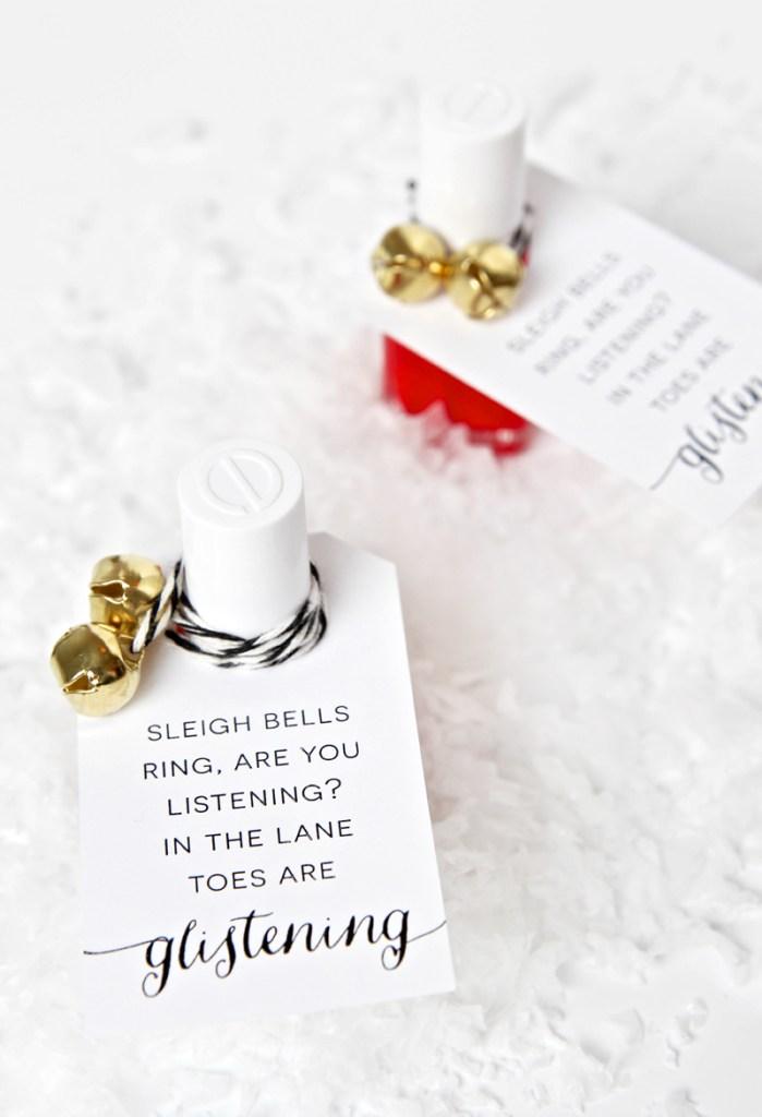 Nail Polish Holiday Gift Idea and Free Printable Tags