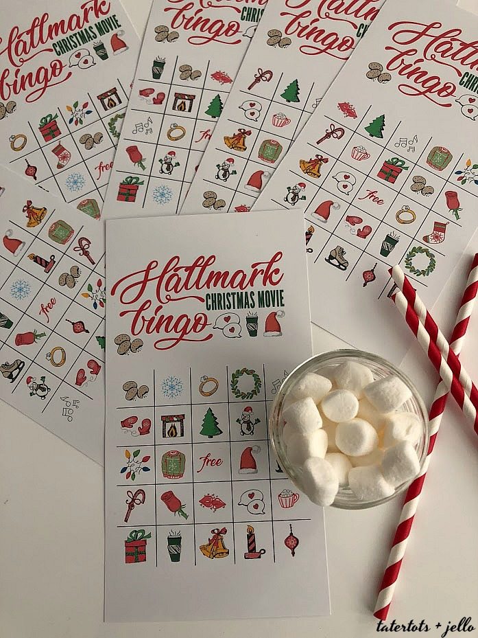 Free Printable Hallmark Channel Holiday BINGO Game Cards