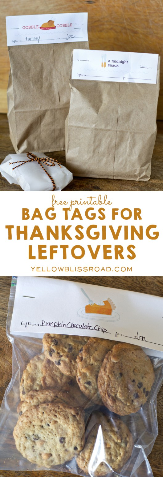 DIY Thanksgiving leftover tags