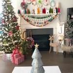 Joy To The World Mantel Colorful Holiday Mantel Ideas