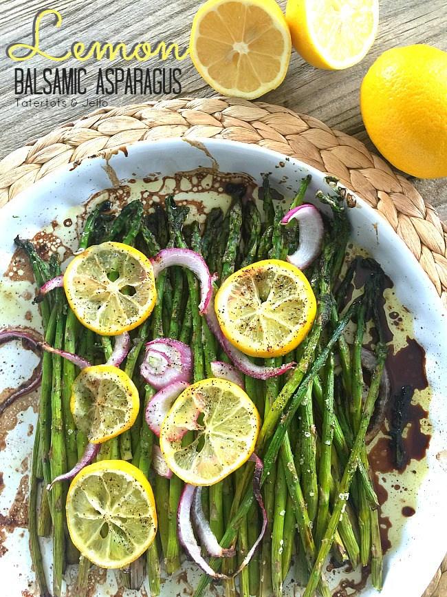 Lemon Balsamic Asparagus