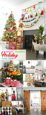 Bright and Colorful 2018 Holiday Home Tour