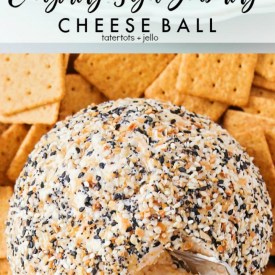 Everything Bagel Seasoning Cheese Ball Recipe – perfect for the holidays!