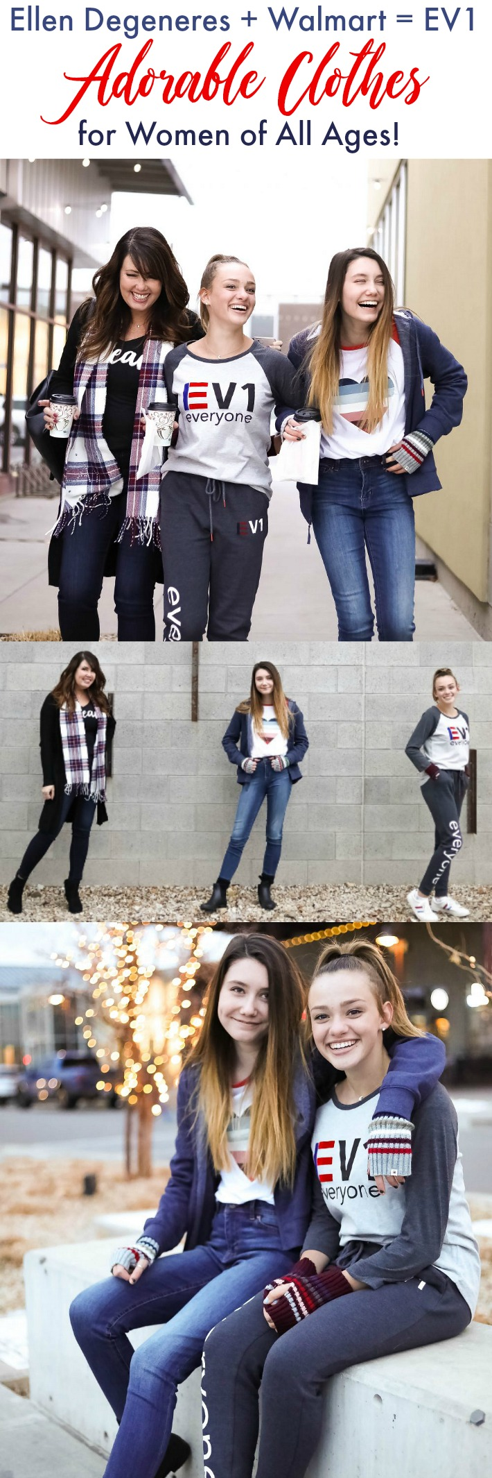 Ellen Degeneres and Walmart have partnered to share EV1, a line of high-quality, affordable, stylish clothing for every woman. I am sharing some of our favorite items from the EV1 line.