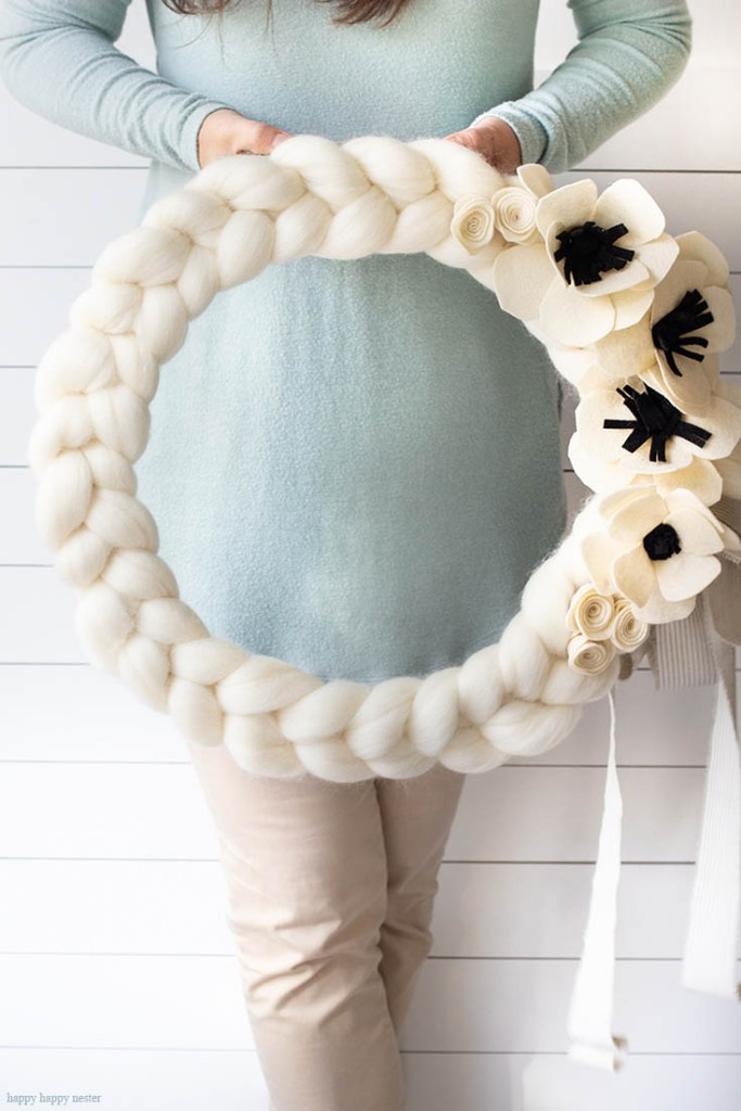 quick and easy arm knitted wreath