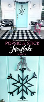 How to Make an Easy Popsicle Stick Snowflake Wreath